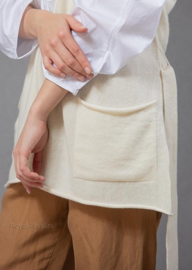жилет из кашемира женский на поясе