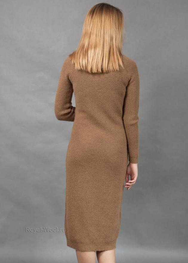 Зимнее шерстяное платье
