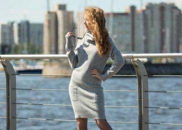 Платье-свитер из шерсти