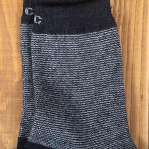 Серые шерстяные носки резинка