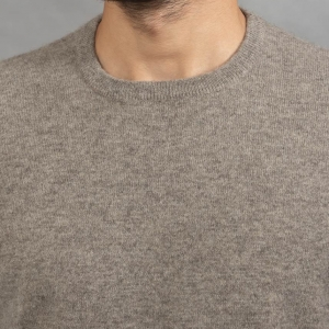 Серый мужской джемпер шерсть яка