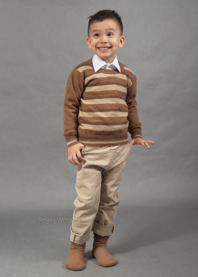 Детский джемпер в полоску