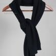 Черный шарф кашемир