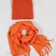 Шапка и шарф оранжевый комплект фото1