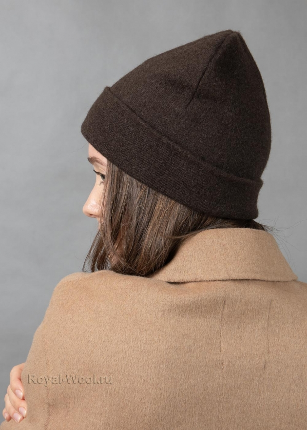 Комплект шапка шарф коричневый як фото6