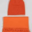 Оранжевый комплект шапка шарф