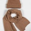 Комплект шапка шарф из верблюжьей шерсти фото1