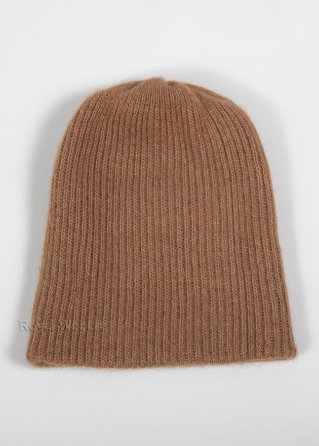 Комплект шапка шарф из верблюжьей шерсти фото2