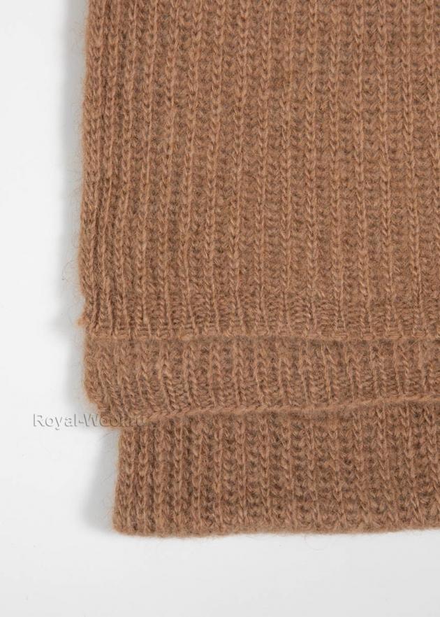 Комплект шапка шарф из верблюжьей шерсти фото3