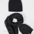 Серая шапка и шарф кашемировые