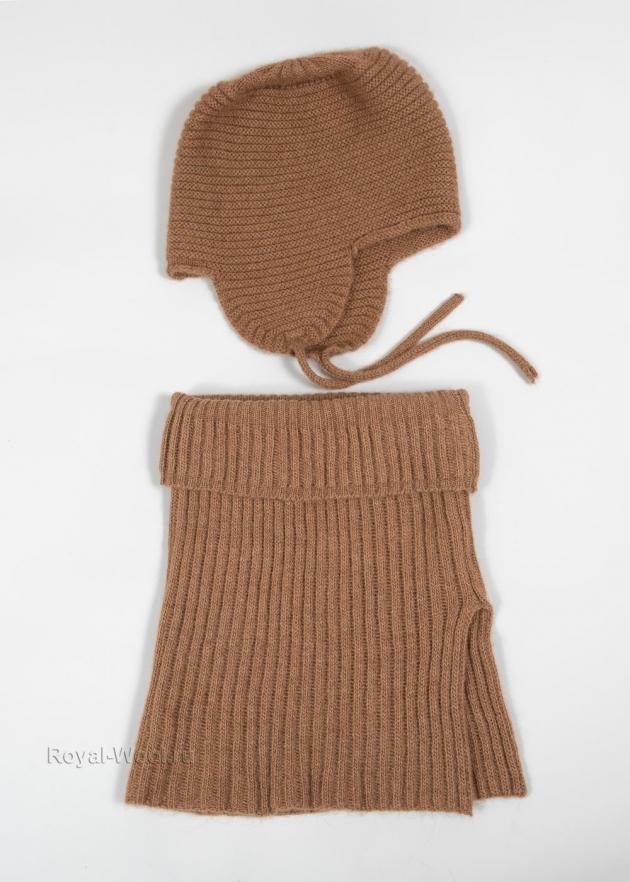 Комплект шарф и шапка-ушанка фото1