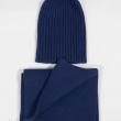 Синяя шапка и шарф комплект